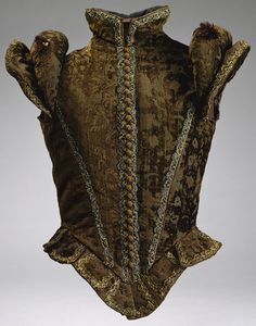 Jerkin    c. 1580    Spanish  Love the texture, color and patterns.