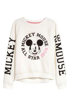 Printed sweatshirt | White/Mickey Mouse | KIDS | H&M AU