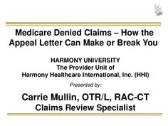 Medicare Denied Claims: How the Appeal Letter Can Make or Break You