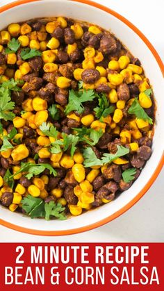 This 2-minute Black Bean Corn Salsa is a versatile and delicious topping, garnish, or side dish. Eat it with tortilla chips, play with the flavors or add-ins, or include some with your spread on Taco Tuesday. The ways to enjoy it are endless! Side Dishes For Chicken, Vegetable Side Dishes, Meaty Lasagna, Black Bean Corn Salsa, Delicious Dinner Recipes, Taco Tuesday, Dinner Dishes, Tortilla Chips, Side Dish Recipes
