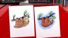 How To Draw A Cartoon Sloth