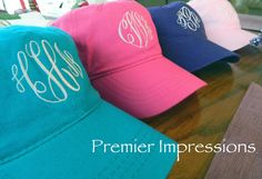 Personalized Monogrammed Baseball Hats