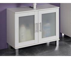 Koupelnová skříňka pod umyvadlo Orlando, bílá/satinované sklo China Cabinet, Bathroom Medicine Cabinet, Lockers, Locker Storage, Toilet, Orlando, Furniture, Home Decor, Flush Toilet