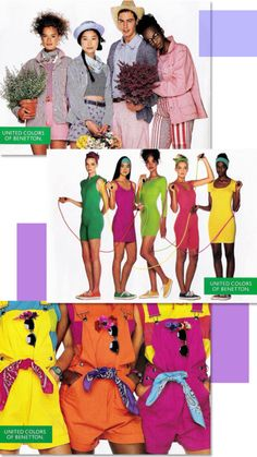 justseventeen: 1988-1989. A sample of looks from a Benetton catalog that fell out of one of my _Seventeen_s. Not sure of which issue, but likely sometime between '88-89. To see the whole shebang, check out Benetton: Free Your Mind