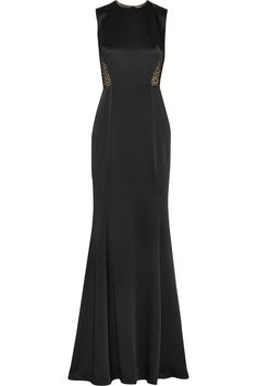 JASON WU Lace-Paneled Satin-Crepe Gown. #jasonwu #cloth #gown