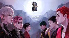 Kpop Exo, Exo Chanyeol, Exo Ot12, Exo Kai, Kyungsoo, Chanbaek, Exo Cartoon, Chibi, Exo Anime