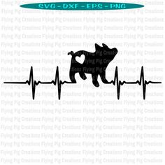 Pig With Heartbeat EKG Live Love Show Pig Pigs Livestock Showstock Heart FFA - svg dxf eps png cl Folded Book Art, Book Folding, Ekg Tattoo, Pig Crafts, Animal Silhouette, Flying Pig, Vinyl Shirts, How To Show Love, Svg Files For Cricut