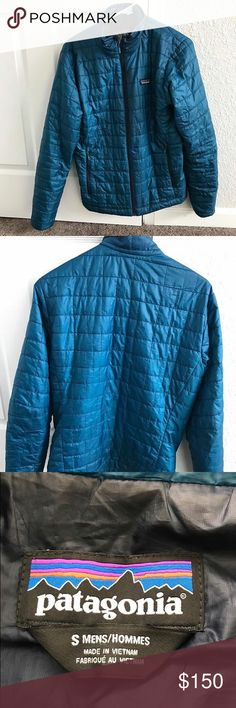 Patagonia Nano Puff Small, blue, rarely worn! Compare here: http://www.patagonia.com/product/mens-nano-puff-jacket/84212.html?dwvar_84212_color=GCB&cgid=mens#tile-3=&start=1&sz=24 Patagonia Jackets & Coats Lightweight & Shirt Jackets