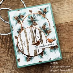 Winter Cards, Fall Cards, Holiday Cards, Fun Fold Cards, Folded Cards, Stampin Pretty, Stampin Up, Christmas Bird, Homemade Christmas Cards