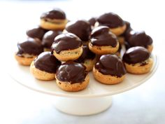Perfect, little chocolate cream puffs.