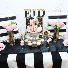 Eid dessert table :) my favorite theme!