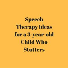 In this video, speech-language pathologist Carrie Clark will talk about some ideas that you can use in speech therapy for a preschooler who stutters.   Indirect Therapy:   	Identify fast vs. slow speech from the therapist  	Practice using fast and slow speech for the child  	Practice slow, smooth, exaggerated speech  Direct Therapy: