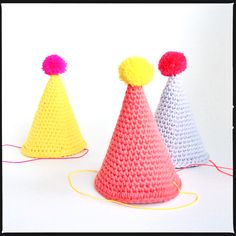 Crochet party hat