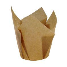 Braune Tulpen Muffin Backförmchen