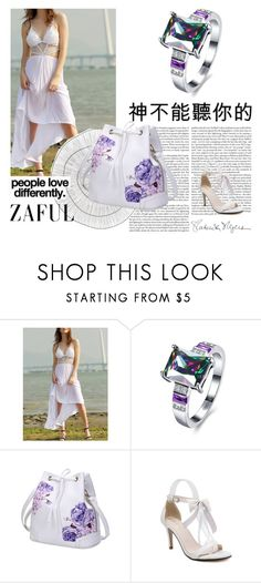 """""""# Zaful #47"""" by deyanafashion ❤ liked on Polyvore featuring Cyan Design and Kenzie"""
