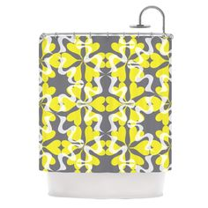 Flowering Hearts Shower Curtain