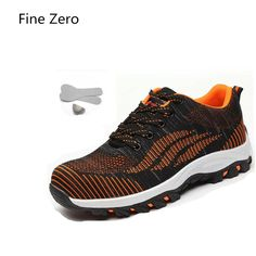 819c014783eb0 Fine Zero 2017 mens Air Mesh botas plus size 46 steel toe caps working  safety shoes