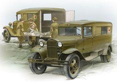 Рисунки автомобилей: Петр Перешивайлов ГАЗ-55