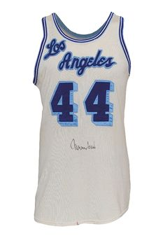 6f32921cc Early 1960 s Jerry West Los Angeles Lakers Game-Used  amp  Autographed Home Jersey  Lakers