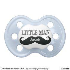 Little man mustache Custom Pacifier Personalized
