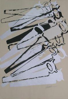 Fernandz Arman, 'Arman' (b. Jean Tinguely, Nouveau Realisme, Neo Dada, Jim Dine, Pop Art Movement, Observational Drawing, Jr Art, Collage Techniques, Still Life Drawing