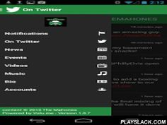 The Mahones  Android App - playslack.com , Official mobile app for The Mahones. This app is managed by the band. Access The Mahones Songs, Music Videos, Live Interviews, News Releases, Upcoming Live Events and more. Interact with the band and other fans from around the world. Receive local venue and ticketing information via push notifications for upcoming The Mahones concerts near you. Quickly add concert details directly to your smartphones calendar, buy tickets or invite your friends to…