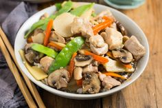 Pressure Cooker Moo Goo Gai Pan, it's so easy to cook this Chinese takeout recipe at home! Use your Instant Pot Electric Pressure Cooker, it's gluten free.