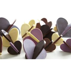 Lekue Silicone 3-D Hearts Chocolate Mold  This light but sturdy mold makes gorgeous 3-D hearts.    http://www.fancyflours.com/product/Lekue-silicone-3d-heart-chocolate-mold/valentines-party-theme