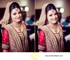 beautiful bride <3 love how she has her hair and dupatta.