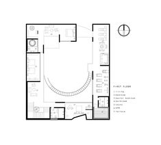 residential proposal in japan generates central courtyard based on fibonacci's golden spiral Floor Plan Sketch, Family Of Five, Urban Fabric, Islamic Architecture, Architect House, Private Room, Ground Floor, Proposal, Spiral
