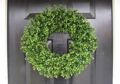 year-round boxwood wreath