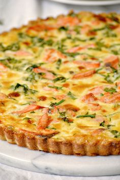 Use leftover salmon to create an entire meal with this SalmonQuiche Recipe! Notes: use 1cup flour with 1 stick butter and add salt for the crust. Used sour cream instead of heavy cream.