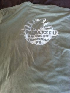 The theme was Go Green 2014 & offered to screen print a t-shirt brought to race. Only problem, the screen became clogged & only a few got their shirts done. Mine didn't get a the logo :(
