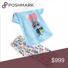 ‼️Just In‼️ Zootopia Jammies 2pc Zootopia Jammies set. These are made from a soft silky material. Even have a little stretch to them. IMO these run small. Please take that into consideration when purchasing. Additional sizes can be ordered just ask... New with tags from wholesale vendor. Pajamas Pajama Sets