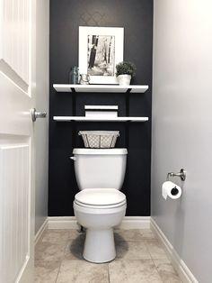 Toilet Room Decor, Small Toilet Room, Half Bathroom Decor, Downstairs Bathroom, Small Downstairs Toilet, Bathroom Ideas, Small Half Bathrooms, Small Half Baths, Small Bathroom