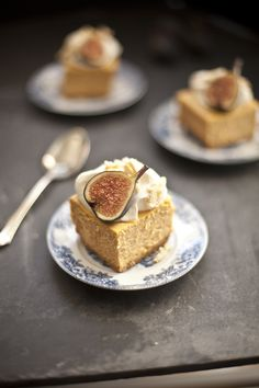 Pumpkin Cheesecake with Almond Crunch and Amaretto Cream