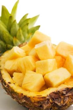I love the idea of putting the sliced pineapple back into the hollowed out pineapple to serve it.