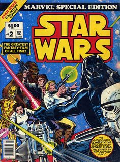 Marvel Special Edition Featuring Star Wars 2 collects the fourth, fifth& sixth issues from the Marvel Star Wars series of comics. This is an Oversized 10 x 14 inch Treasury sized comic, which were very popular and common in the Star Wars Comic Books, Star Wars Comics, Star Wars Art, Stormtrooper, Darth Vader, Clone Wars, Film Fiction, Comic Book Storage, Epic Movie