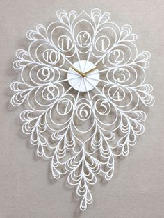 Darling Clock Lite. Modern Laser Cut, Wooden, Wall, Art, Decor, Clock