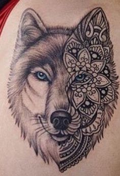 طرح نیمه گرگ Kiss Tattoos, Sweet Tattoos, Girly Tattoos, Cool Tattoos, Tatoos, Tribal Wolf Tattoo, Wolf Tattoo Design, Tattoo Designs, Tattoo Sketches