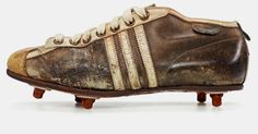 the collection shows a selection of adidas classic football cleats from the last 50 years including franz beckenbauer and david beckham's signature models. Adidas Football Cleats, Football Shoes, Soccer Cleats, Old Football Boots, Rugby, Adidas Boots, Soccer Boots, Sports Footwear, National Football Teams