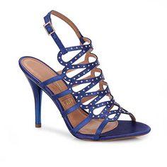 Sandalia Salto Feminina Vizzano 6227103 - Azul