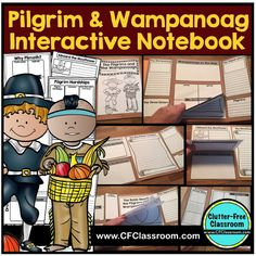 Pilgrim activities for kids, ideas for lessons about the First Thanksgiving, and Wampanoag fact can be found in this social studies post along with books, printables and how to make an interactive notebook or lapbook. Thanksgiving Books, Thanksgiving Activities, Social Studies Textbook, Pilgrims And Indians, Plymouth Colony, Interactive Notebooks, Writing Activities, Third Grade, Fourth Grade