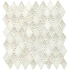"Discontinued Daltile Aura 1"" x 2"" Silver Cloud Harlequin Mosaic"