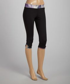 Love this Black Soul Capri Leggings by Sofibella on #zulily! #zulilyfinds