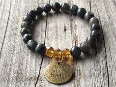 Gemstone bracelet, Woman bracelet, Bohemian bracelet, Ibiza bracelet, Woman jewlery, Woman gift, Stretch stacking bracelet, dream bracelet door KennlyDesign op Etsy
