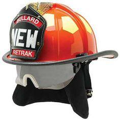 Bullard: ReTrak Structural Helmet- The ReTrak series offers emergency responders a fire helmet with an integrated visor engineered based directly on feedback from firefighters. #TheFireStore