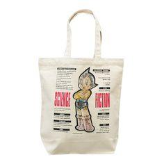 Astro Boy Might Atom Canvas Tote Bag Mechanical Osamu Tezuka JAPAN