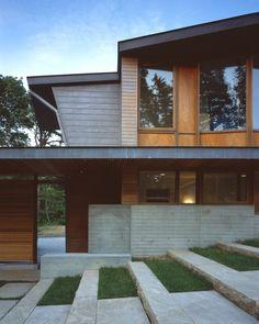 moderne Betontreppe draußen Gestaltung Ideen Designs