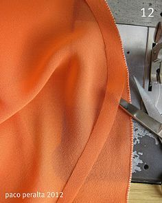How to finish edges on sheer fabrics like chiffon. This tip is invaluable! Sheer fabrics can be a pain to hem.